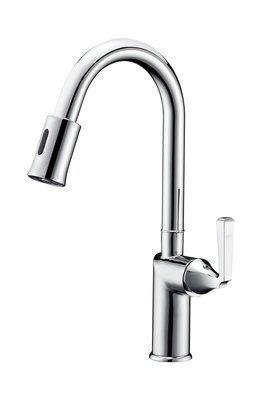 Single-handle sensor kitchen faucet