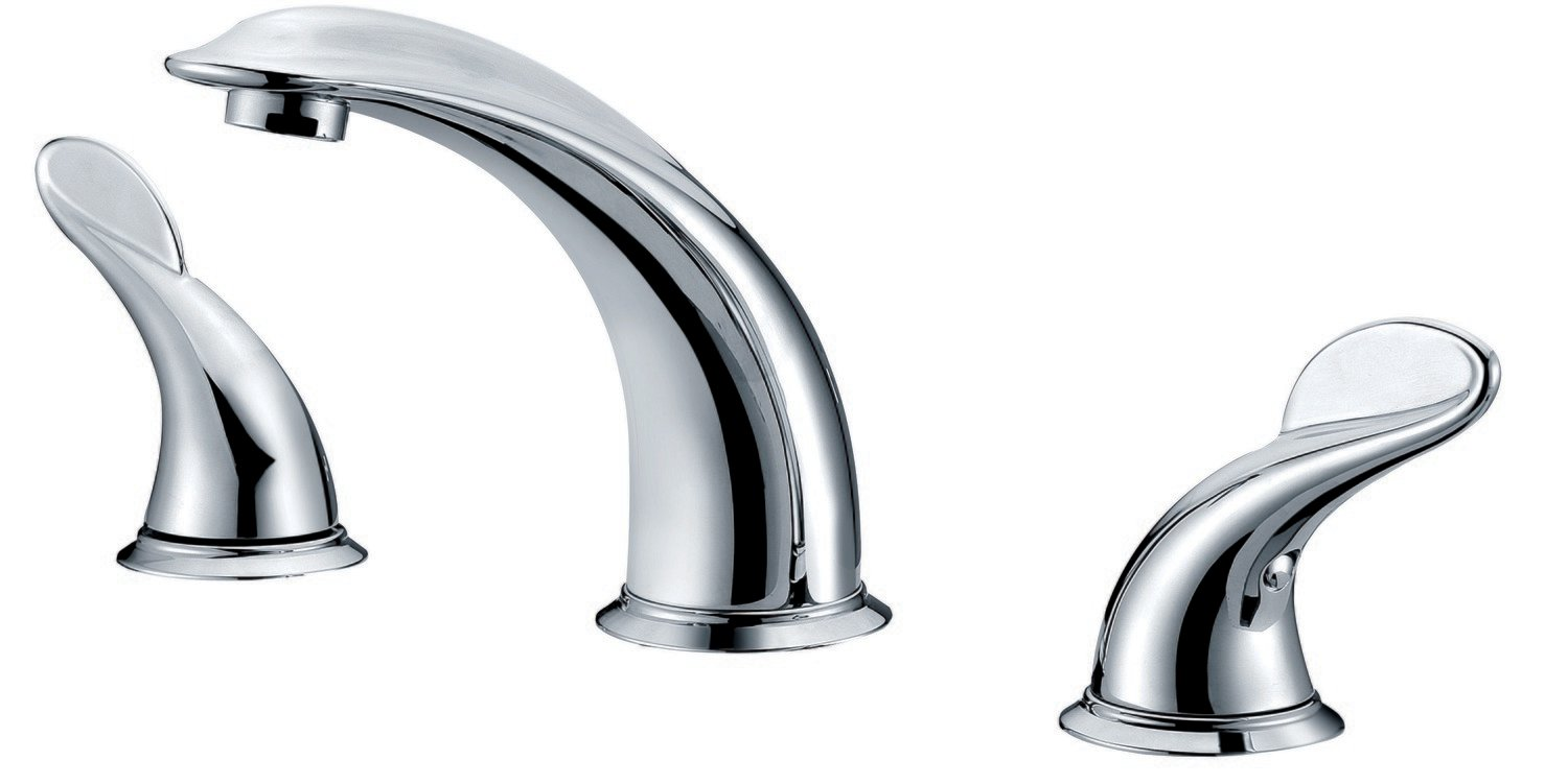 "Two-handle 8""widespread lavatory faucet"