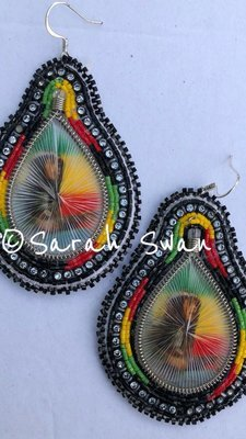 Beaded Bob Marley Earrings