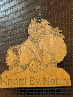 Knotti by Nature Light Wood Logo Earrings