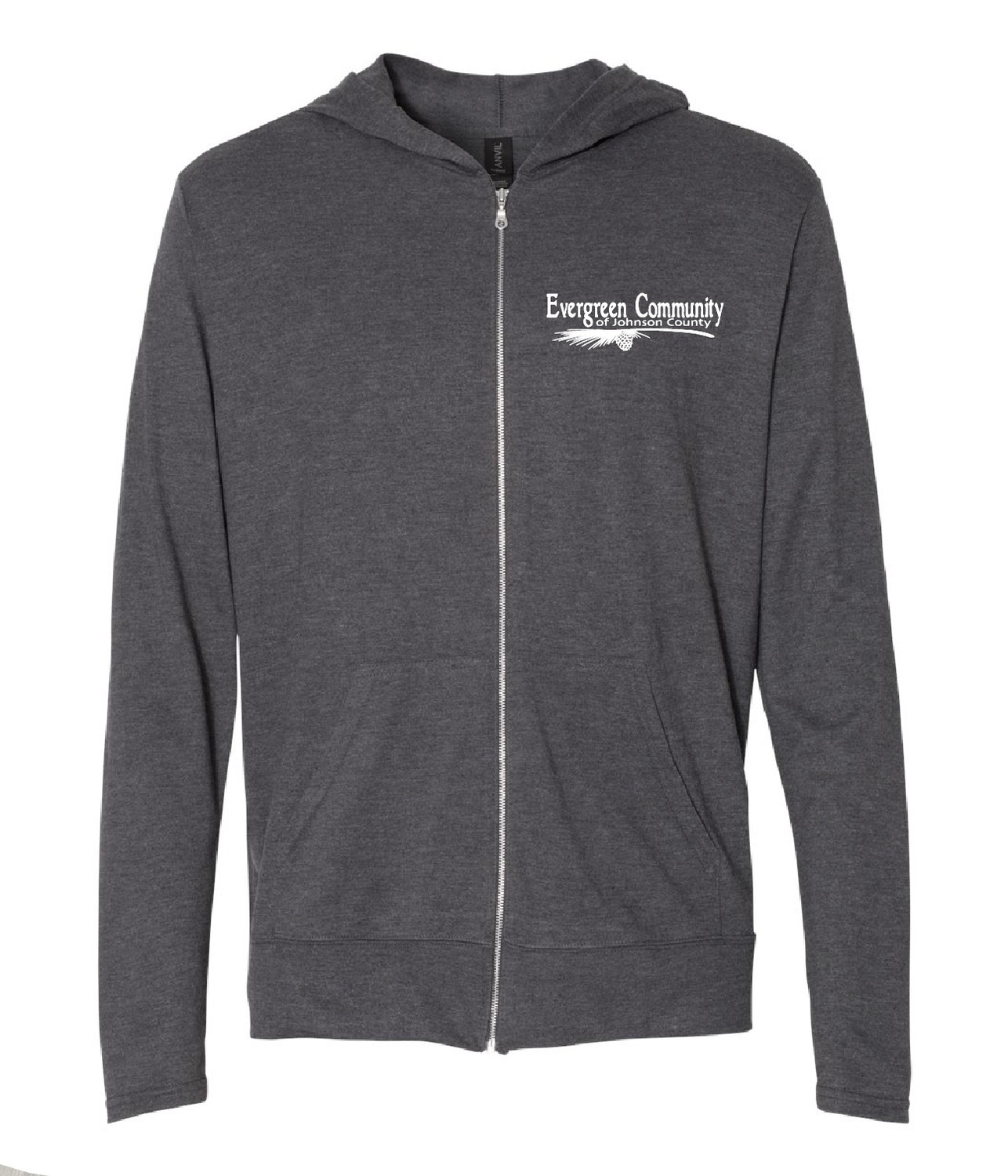 Lighweight Triblend Hooded Full-Zip