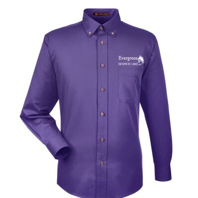 Men's Long-Sleeve Twill Shirt- Team Purple