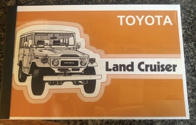 FJ40 Owners Manuals - Please Select Year - $89.00