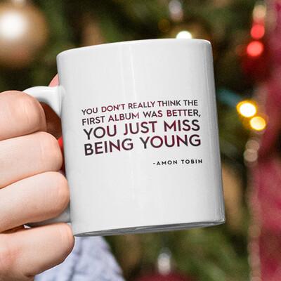 Amon Quotes - Being Young Mug