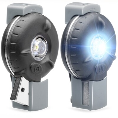 Bkin Smart Motion-Activated LED Personal Safety Light (2 Pack), Gray