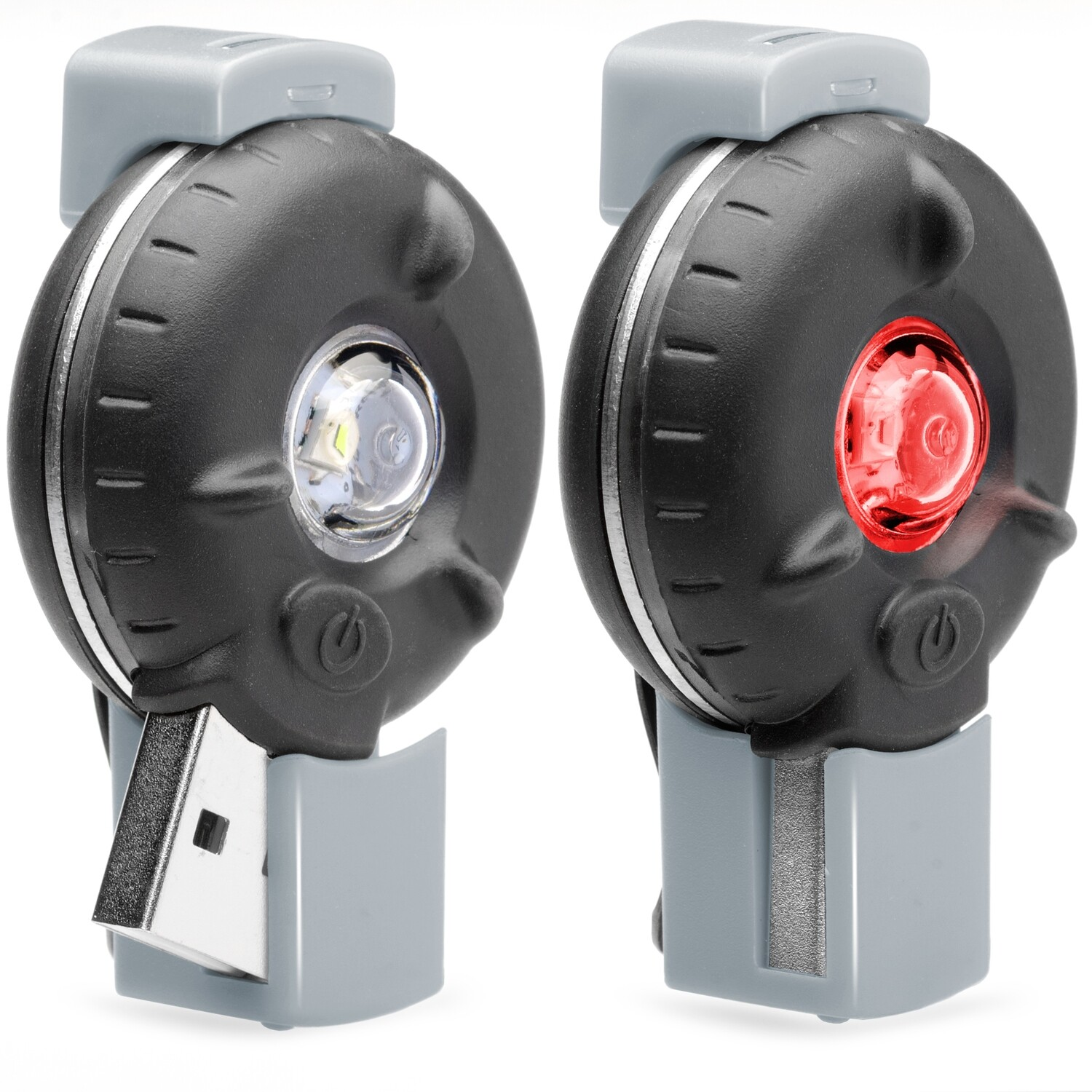 Bkin Smart Motion-Activated LED Personal Safety Light (Black/Grey Front & Rear Set)