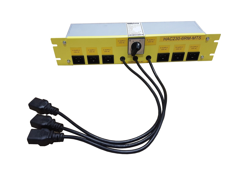 """Manual Transfer Switch 6kW 2U 19"""" rack"""