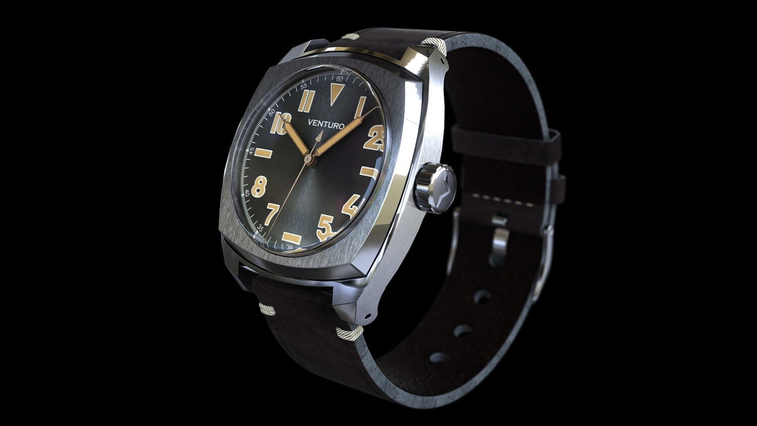 Venturo Field Watch #2 Black Sunburst