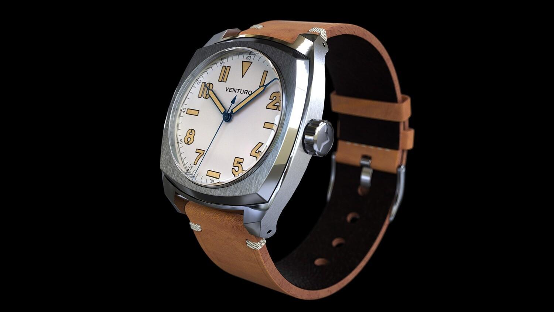 Venturo Field Watch #2 Cream Full lume dial