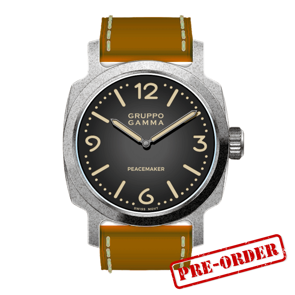 Gruppo Gamma Peacemaker PA-02 Aged Steel Automatic Deposit