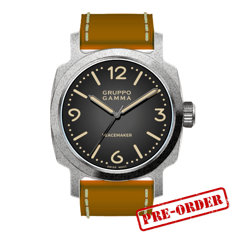Gruppo Gamma Peacemaker PA-03 Aged Steel Automatic Deposit