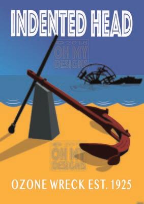 Indented Head - Ozone Blue