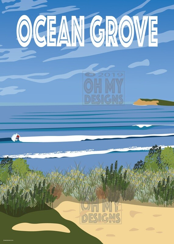 Ocean Grove - View to the bluff