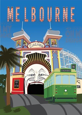 Melbourne - St Kilda, Luna Park and Tram