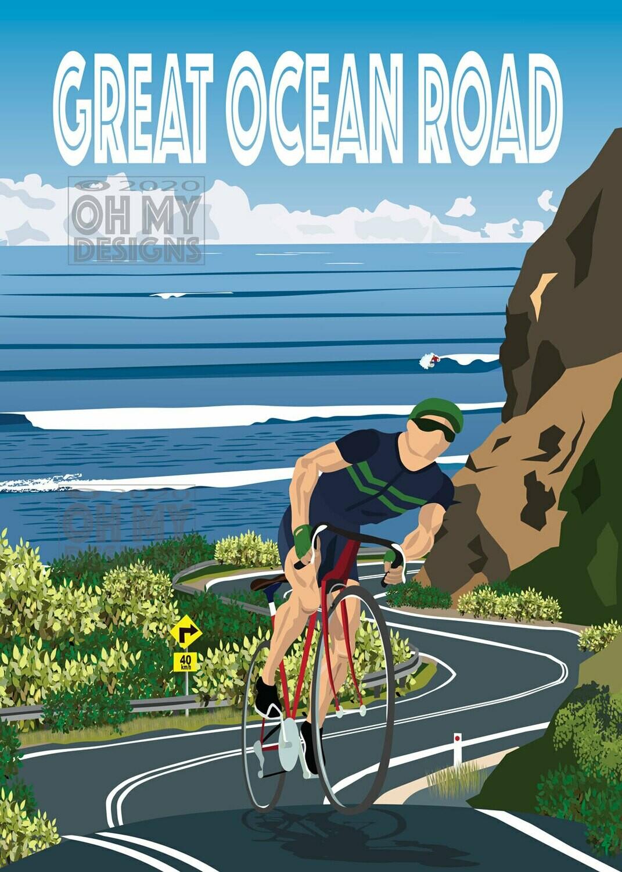 Great Ocean Road- Cyclist