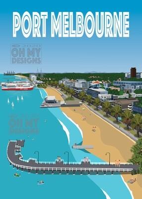 Melbourne - Port Melbourne, Aerial