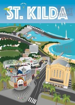 Melbourne - St Kilda aerial view
