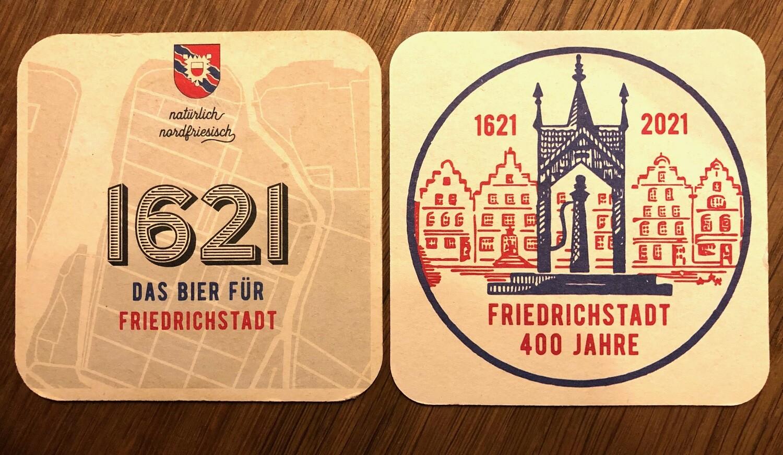 12 x Bierdeckel 400 Jahre Friedrichstadt