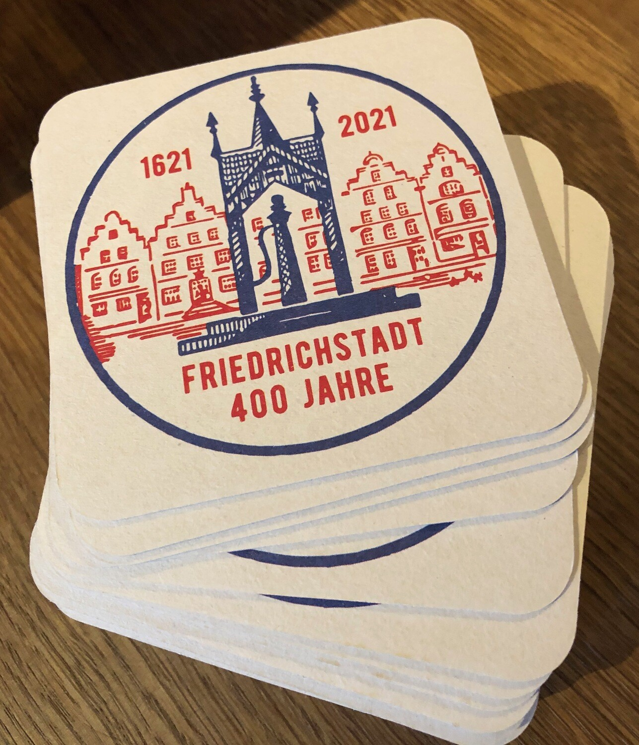 15 x Bierdeckel 400 Jahre Friedrichstadt