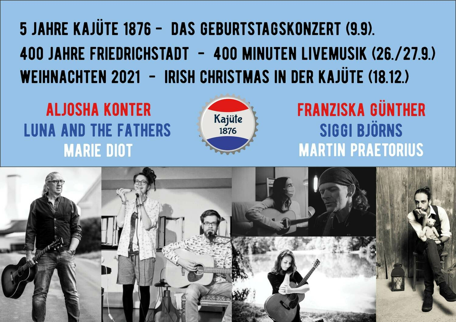 Konzert-Ticket 26.9.2021 (21.00)