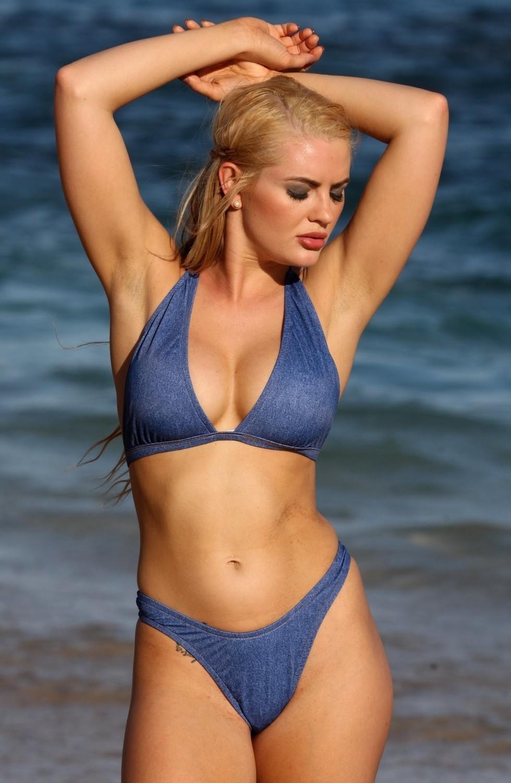 SWIMWEAR|2PC-Barcelona Thong Demin Bikini