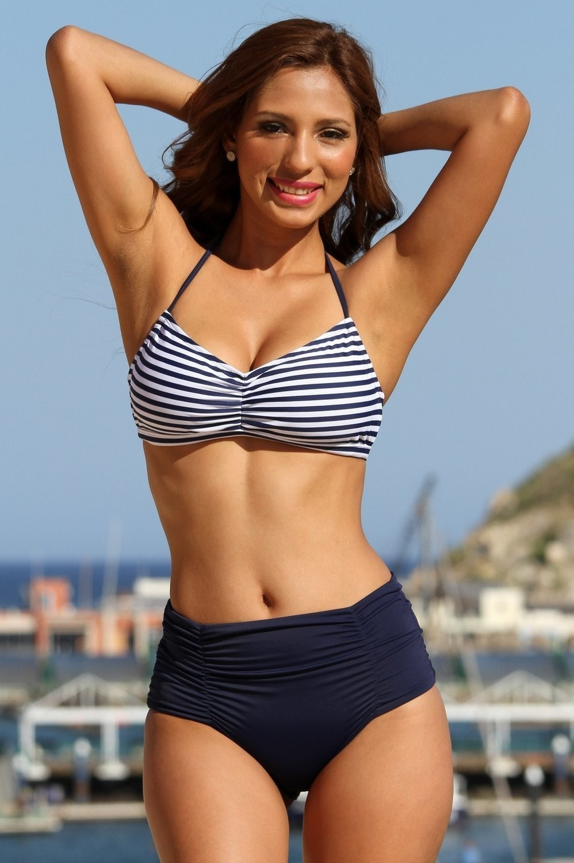 SWIMWEAR|2PC - Navy Sailor Stripes Bikini