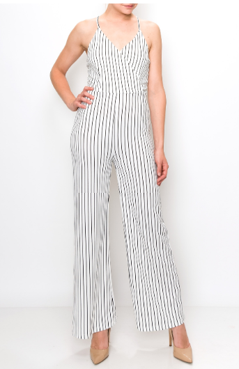 JumpSuits| Stripes Jumpsuit