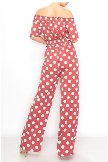 Casual  Polka dots fashion set