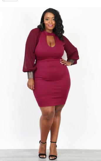 Dresses | Choker Neck Mini Body-con Dress