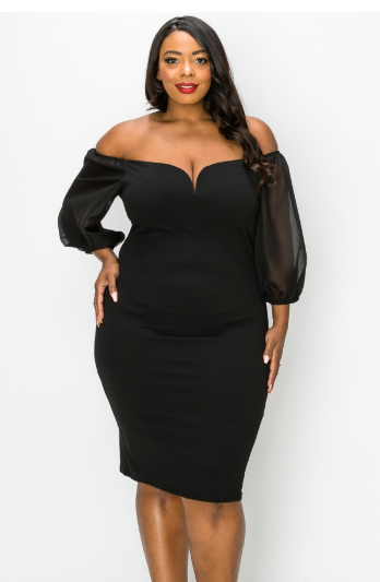 Dresses  WIRE FRONT BODYCON DRESS