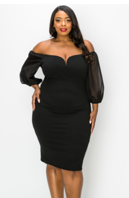 Dresses| WIRE FRONT BODYCON DRESS