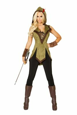COSTUMES  SUPERHEROS   2pc Hooded Outlaw