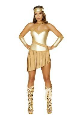 COSTUMES  SUPERHEROS   3pc Golden Goddess