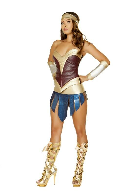 COSTUMES| SUPERHEROS|  4pc American Heroine