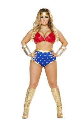 COSTUMES  SUPERHEROS   4pc Mighty Comic Hero