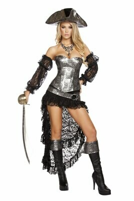 COSTUMES  PIRATE   4pc Deadly Pirate Captain