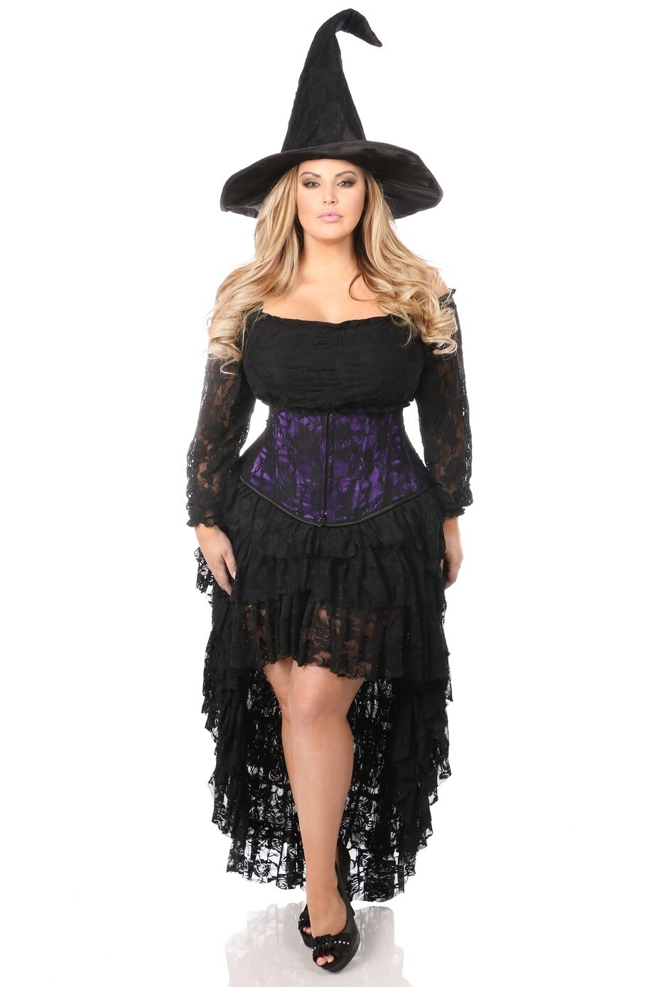 COSTUMES  Witches  4 PC Lace Witch Corset Costume