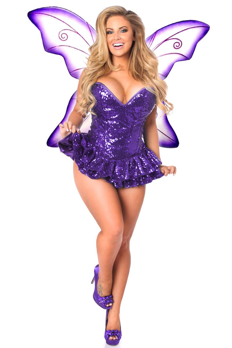 COSTUMES| Miscellaneous|  Sequin Purple Fairy Corset Dress Costume