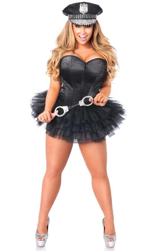 COSTUMES| Cops|   Flirty Cop Corset Costume
