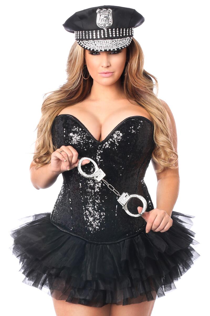 COSTUMES  Cops  4 PC Sexy Cop Corset Costume