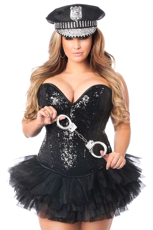 COSTUMES| Cops| 4 PC Sexy Cop Corset Costume