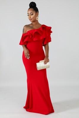 Dresses  Ruffle Off Shoulder Sleeve Maxi Dress