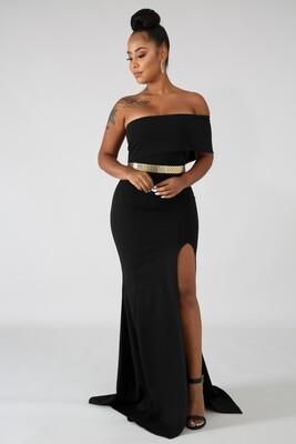 Dresses  Vaudevillian Slit Maxi Dress