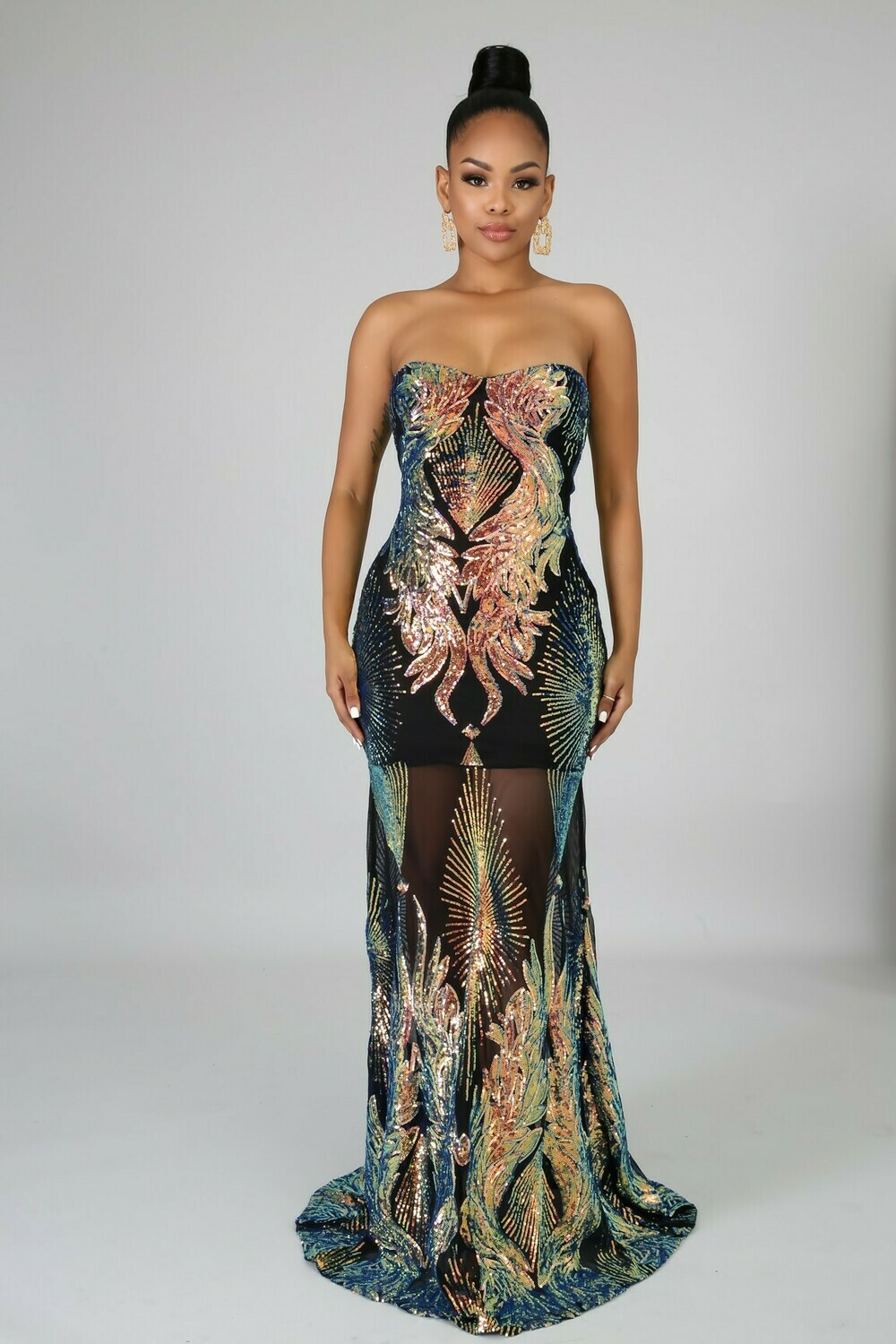 Dresses| Only Yours Sequins Mermaid Dress