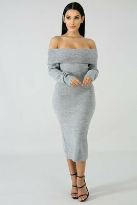 Dresses| Off Shoulder Love Dress