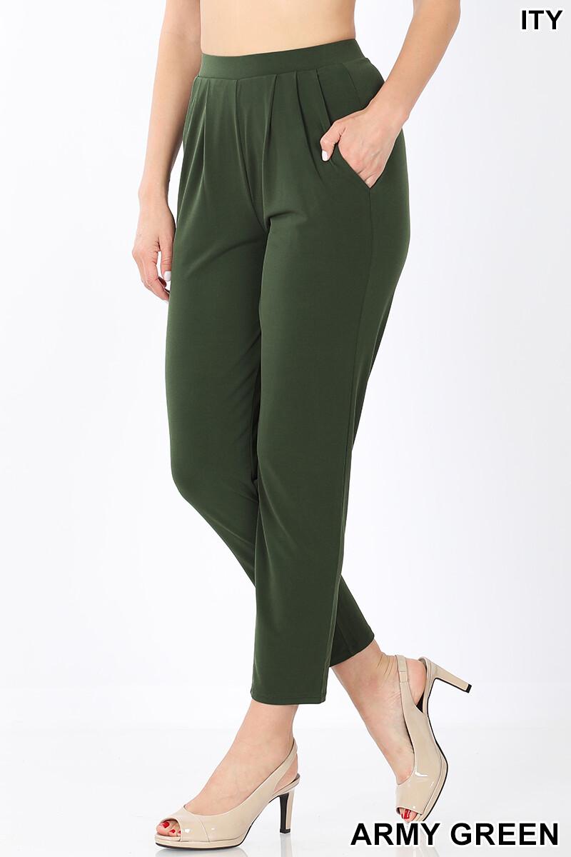 Pants  Pleated Waist Pants