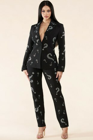 Pants sets | Rhinestone-Sexy-Pant-suit