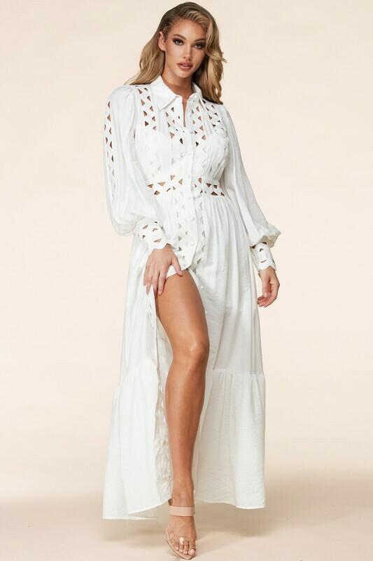 Dresses | Whimsical White Max Dress