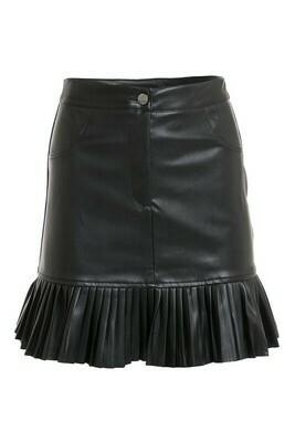 Skirts   Pleather-Mini-Pleated-Hem-skirt