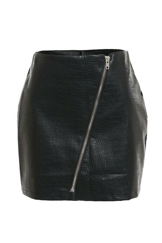 Skirts   Pleather-Mini-Snakeskin-skirt